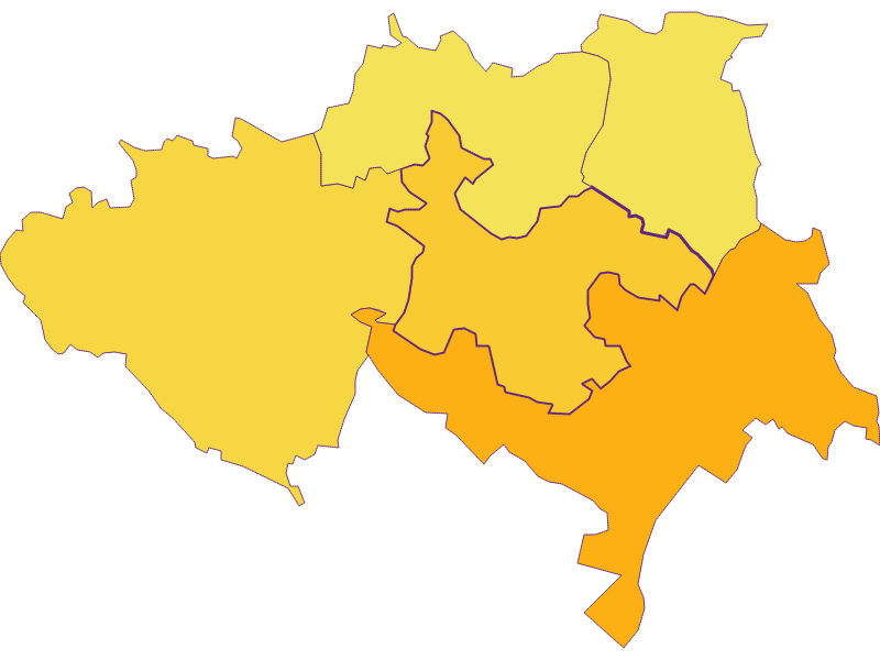 Population density in Ulrichskirchen-Schleinbach