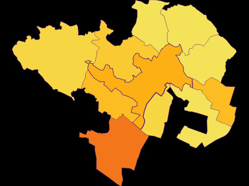 Плотность населения в Wolkersdorf im Weinviertel