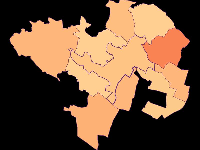 Размер домохозяйства в Wolkersdorf im Weinviertel