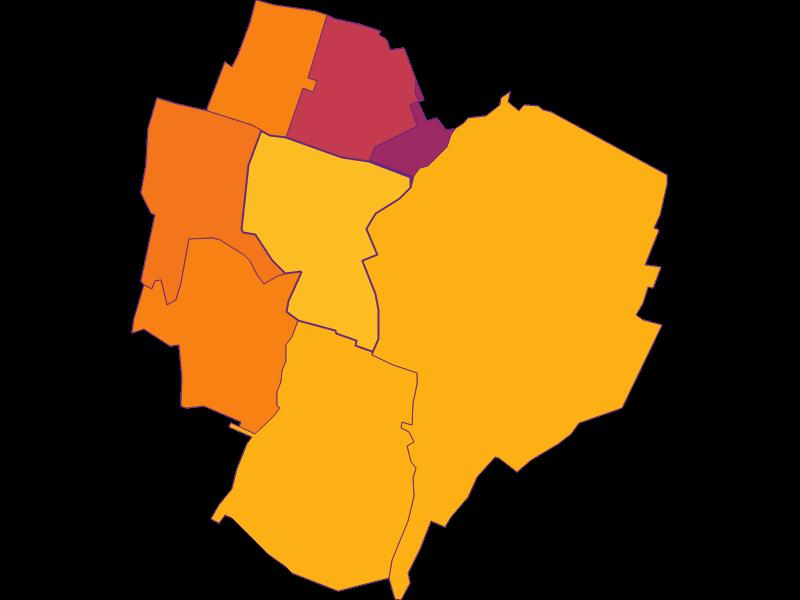 Плотность населения в Achau