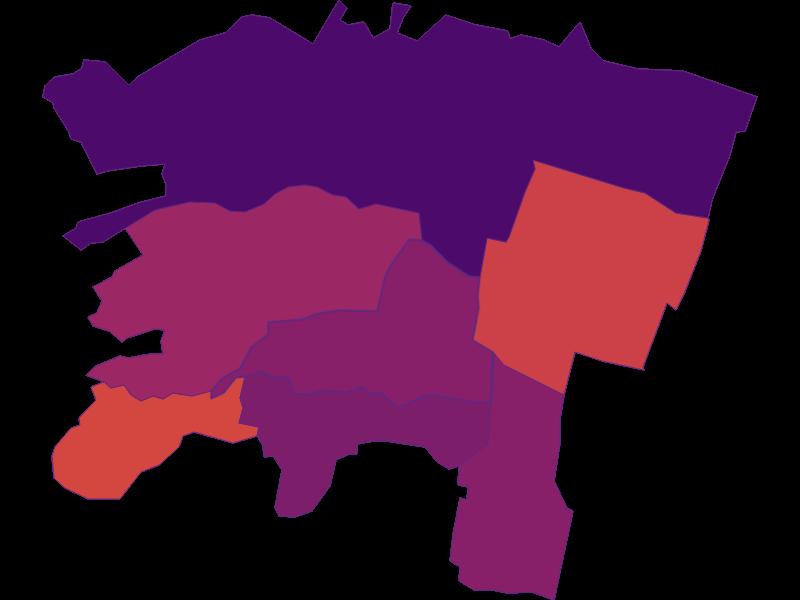 Плотность населения в Brunn am Gebirge