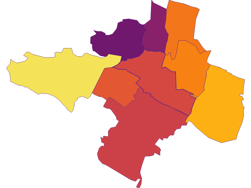 Плотность населения в Guntramsdorf