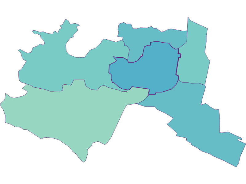 Share of foreigners in Mödling