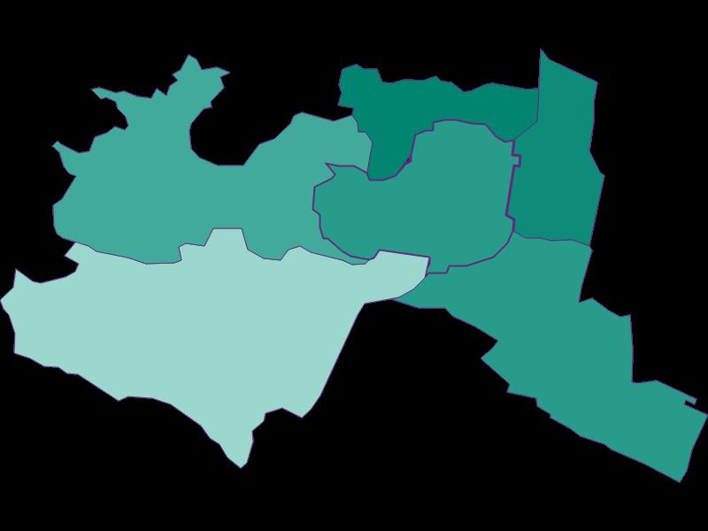 Population development since 1869 in Mödling