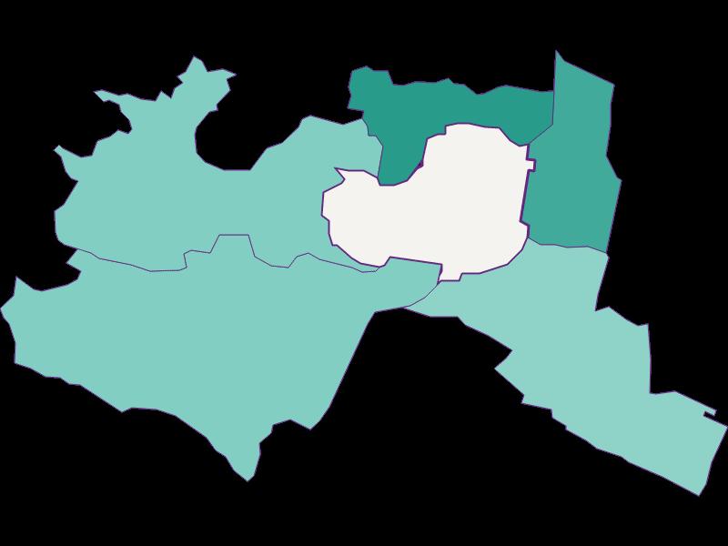Population development since 1900 in Mödling