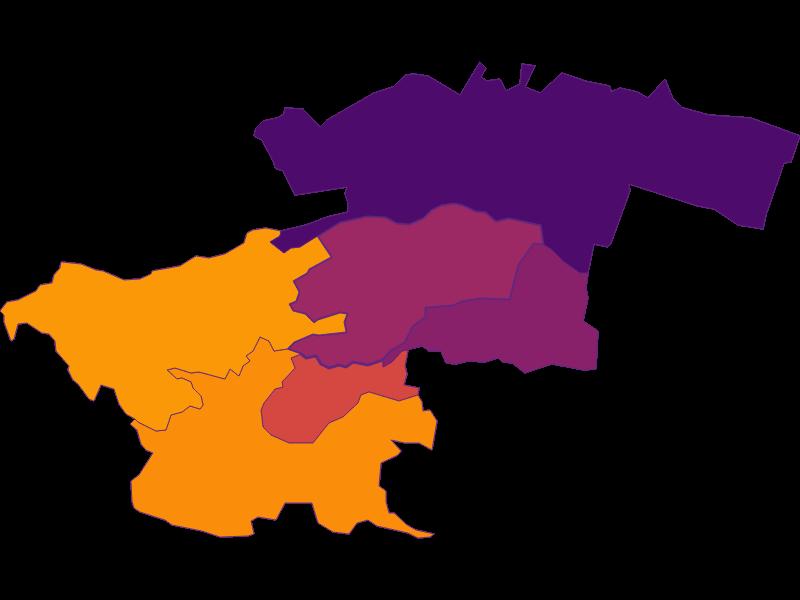 Плотность населения в Perchtoldsdorf