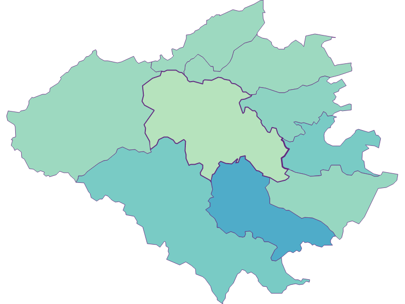 Share of foreigners in Wienerwald