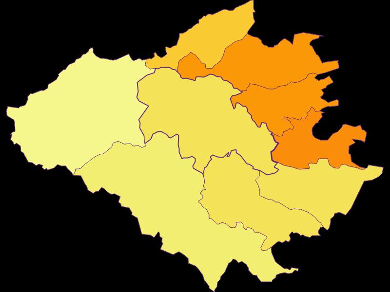 Population density in Wienerwald