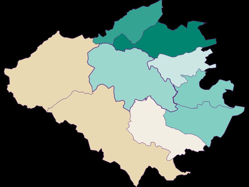 Population development since 1900 in Wienerwald