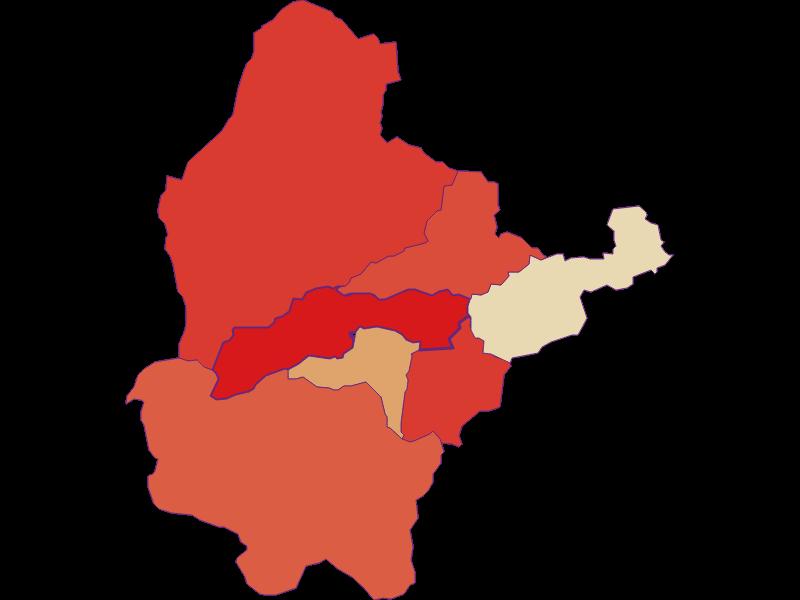 Population development since 1900 in Breitenstein