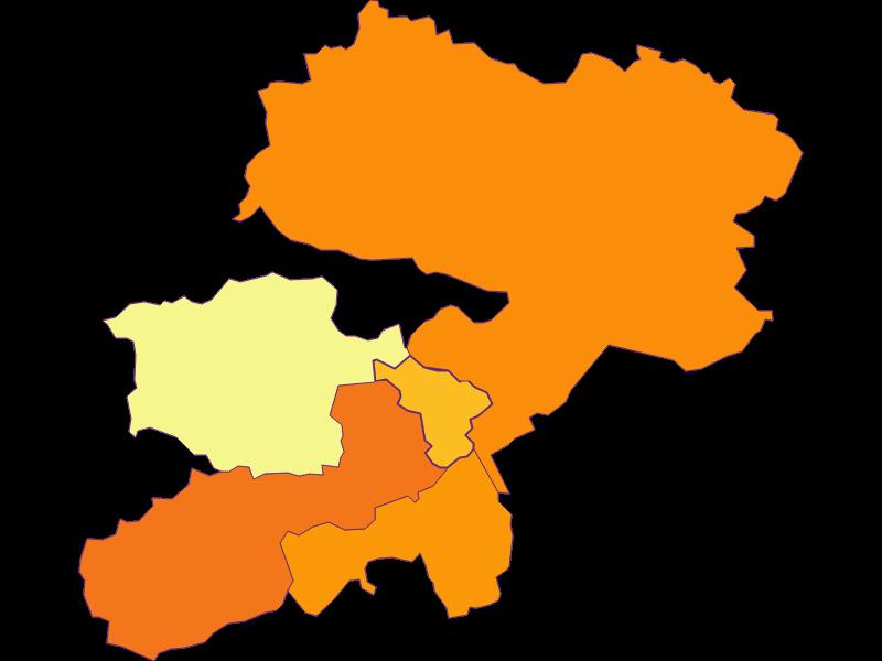 Population density in Buchbach