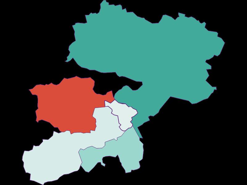 Population development since 1869 in Buchbach
