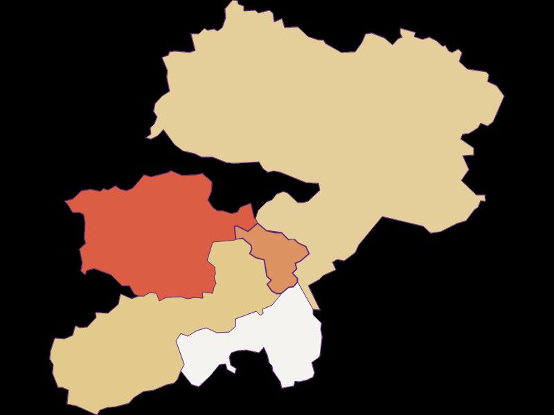 Population development since 2011 in Buchbach