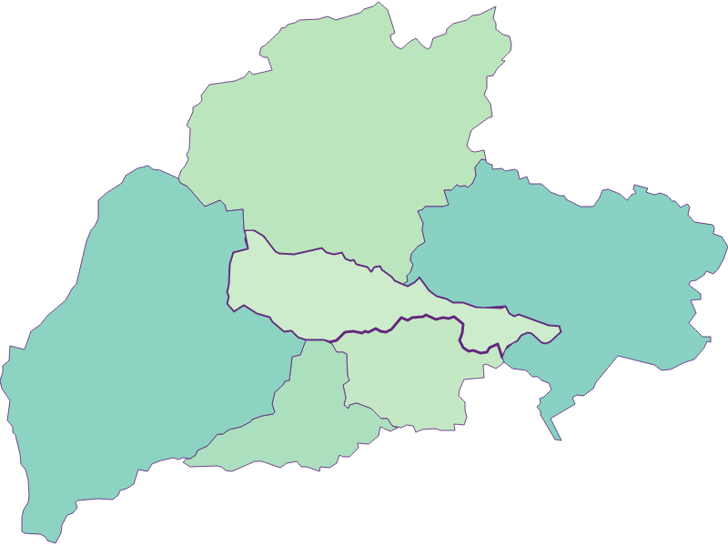 Share of foreigners in Bürg-Vöstenhof