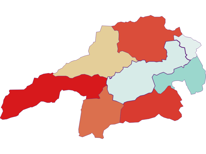 Population development since 1869 in Gloggnitz