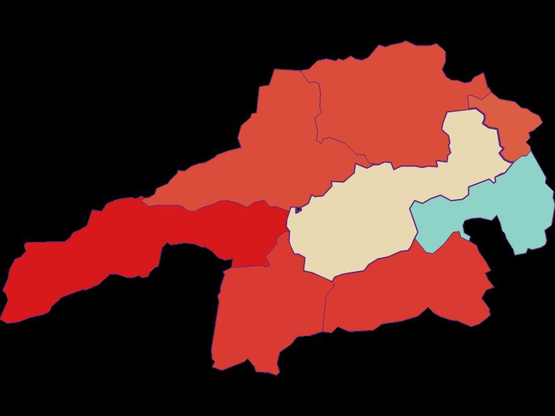 Population development since 1900 in Gloggnitz
