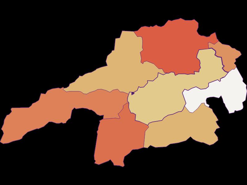 Population development since 2011 in Gloggnitz