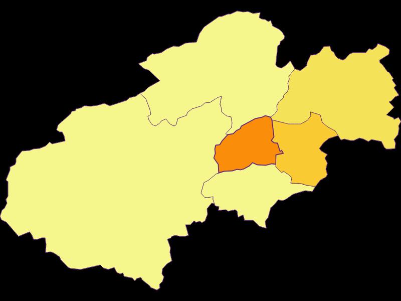 Population density in Grünbach am Schneeberg
