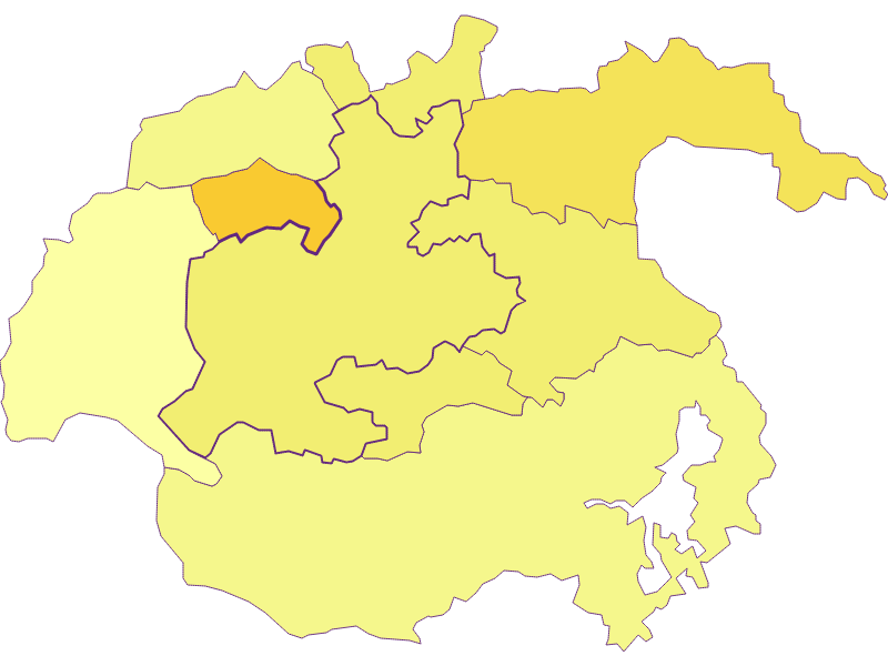 Population density in Kirchberg am Wechsel