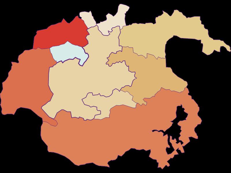 Population development since 1869 in Kirchberg am Wechsel