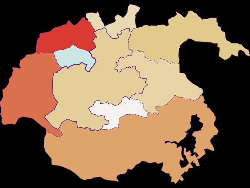 Population development since 1900 in Kirchberg am Wechsel