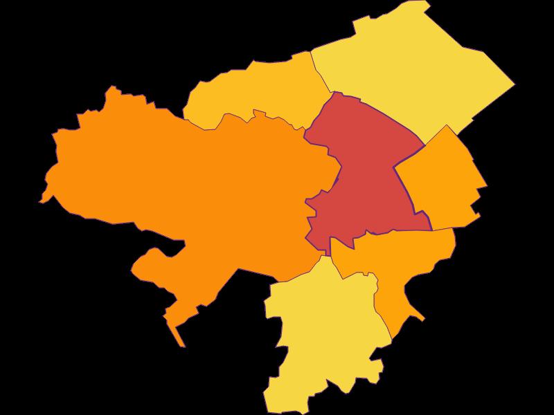 Population density in Neunkirchen
