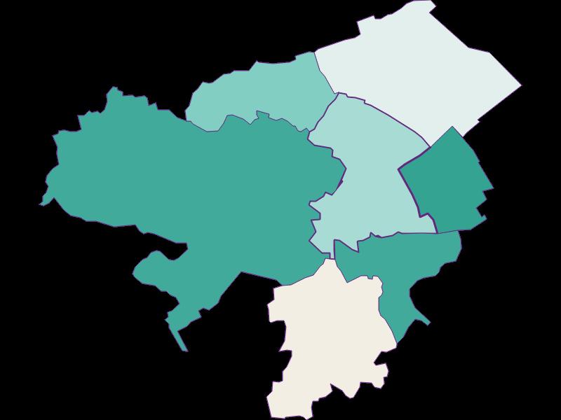 Population development since 1869 in Neunkirchen