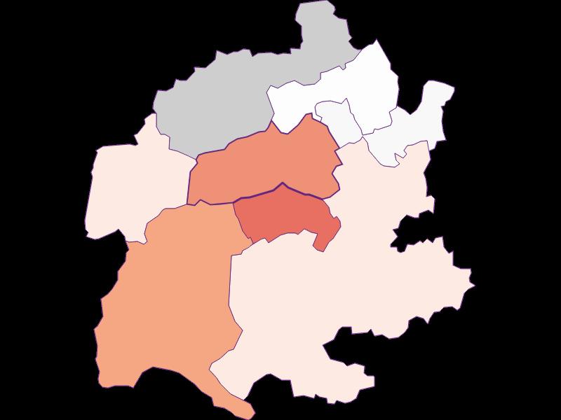 Activity rate in Raach am Hochgebirge