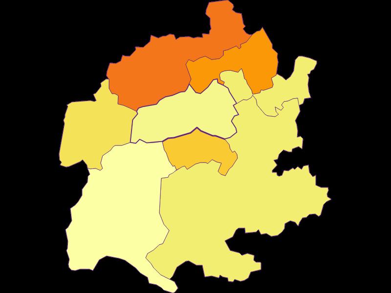 Population density in Raach am Hochgebirge