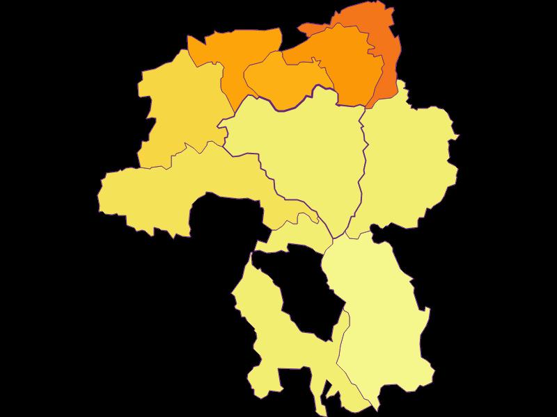 Population density in Scheiblingkirchen-Thernberg