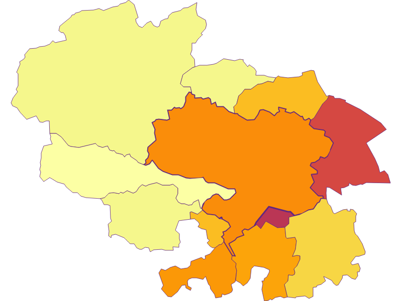 Population density in Ternitz