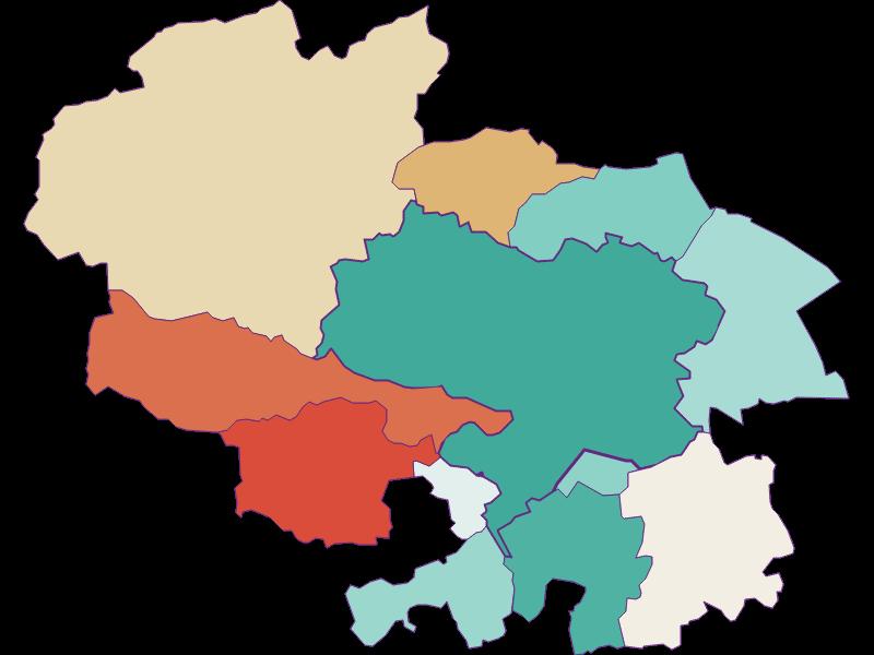 Population development since 1869 in Ternitz