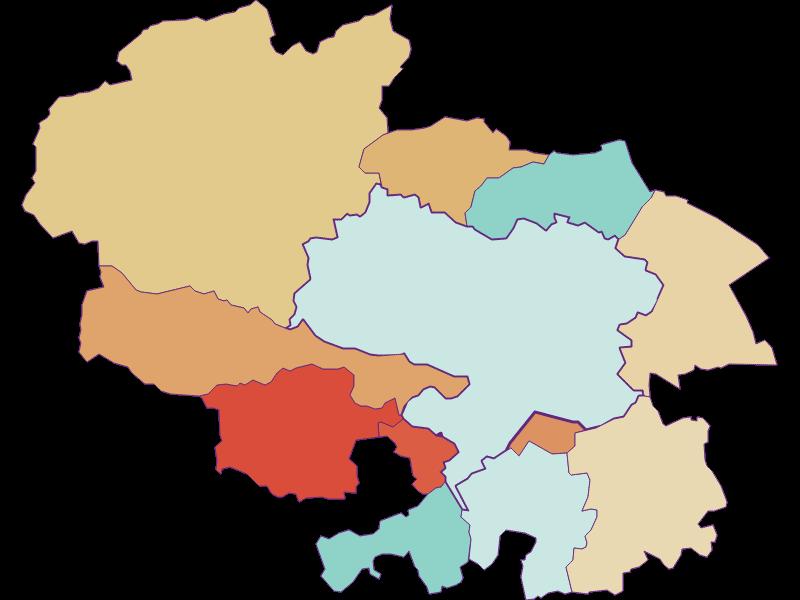Population development since 1900 in Ternitz
