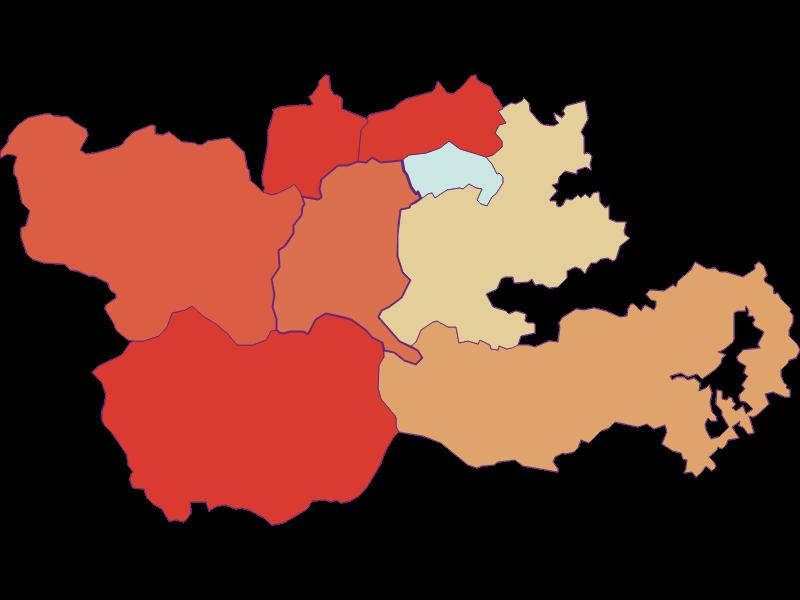 Population development since 1900 in Trattenbach