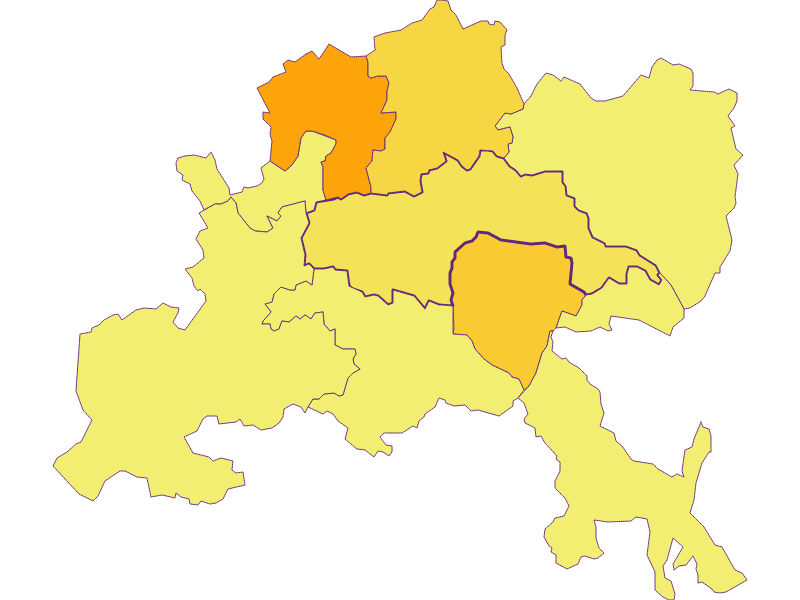 Плотность населения в Warth