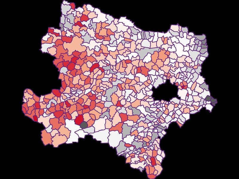Activity rate in Niederösterreich