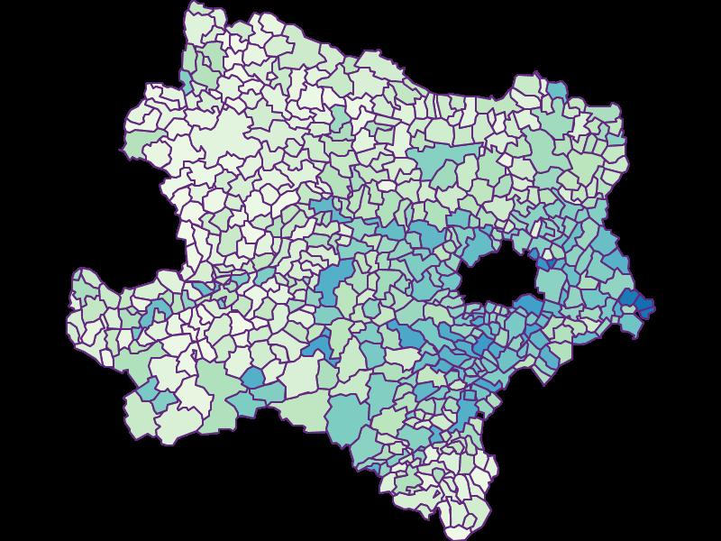Fremdenanteil in Niederösterreich