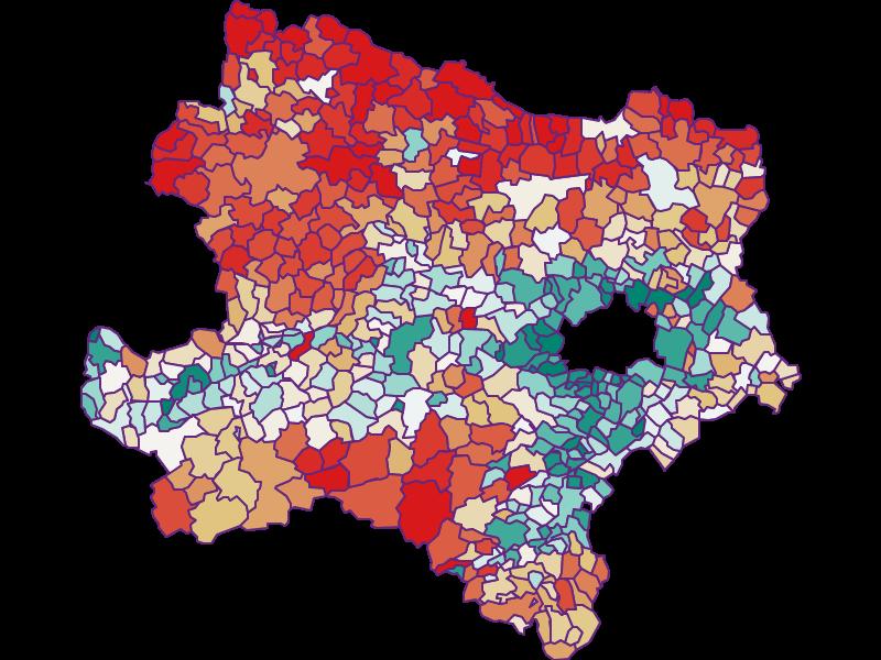 Population development since 1869 in Niederösterreich