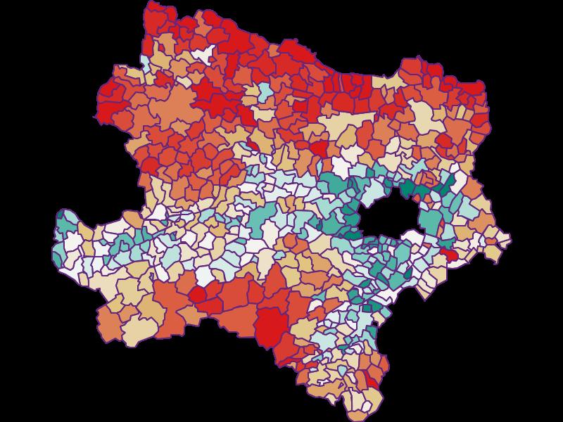 Population development since 1900 in Niederösterreich