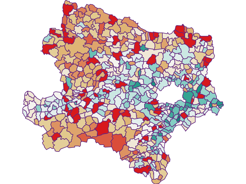 Population development since 2011 in Niederösterreich
