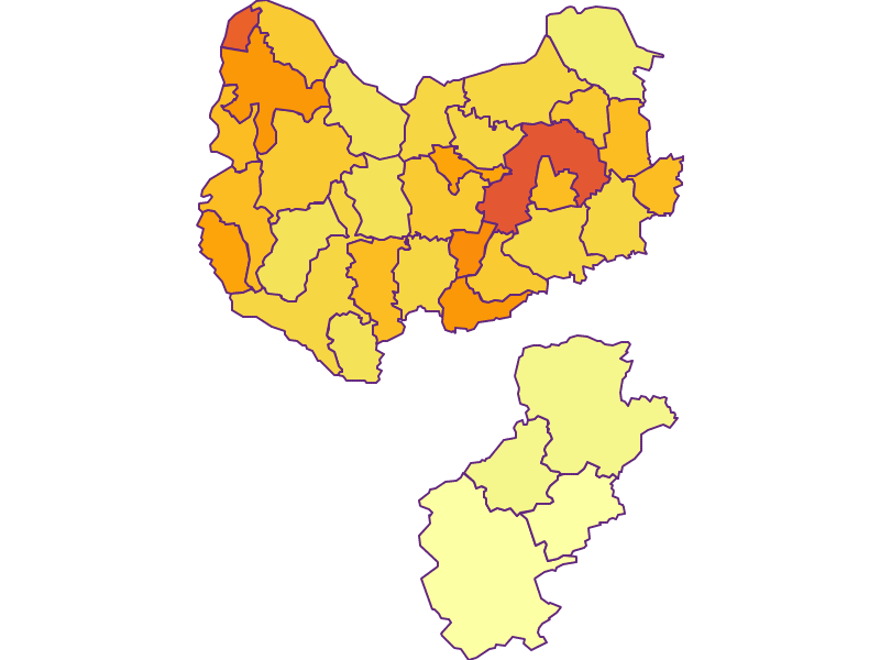 Population density in Amstetten