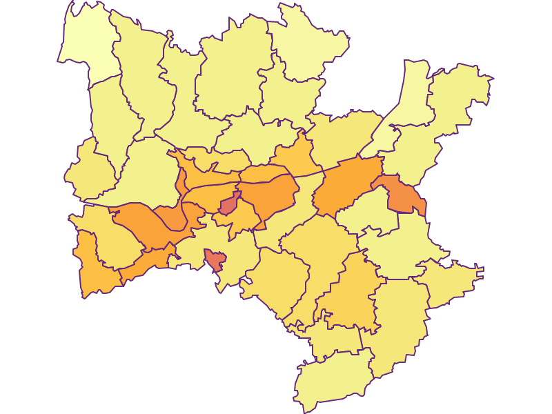 Population density in Melk