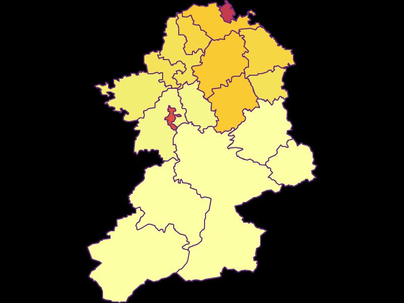 Population density in Scheibbs