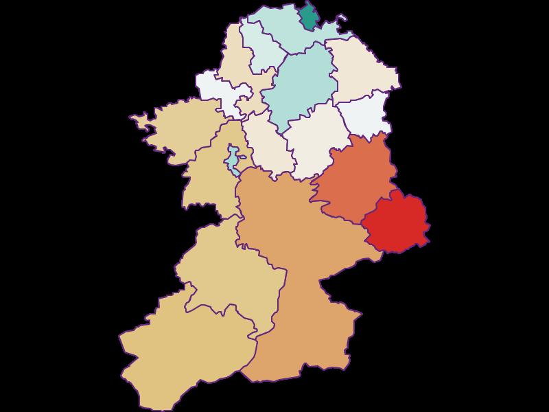 Population development since 1869 in Scheibbs