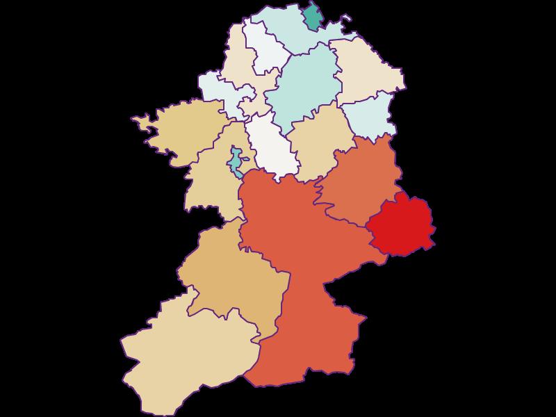 Population development since 1900 in Scheibbs