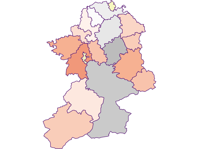 Farmers (comparison to federal state) in Scheibbs