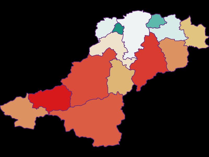 Population development since 1869 in Lilienfeld