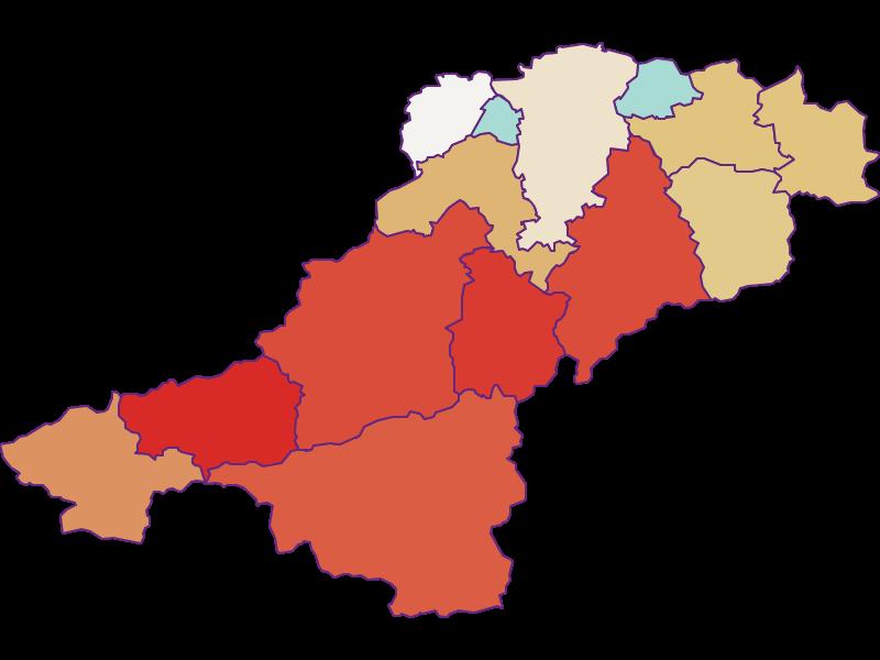Population development since 1900 in Lilienfeld