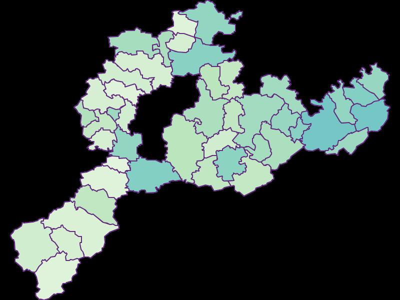 Доля иностранцев в Sankt Pölten(Land)