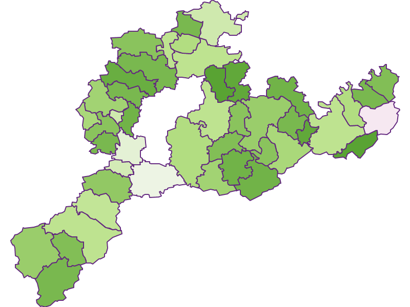 Заселенность в Sankt Pölten(Land)